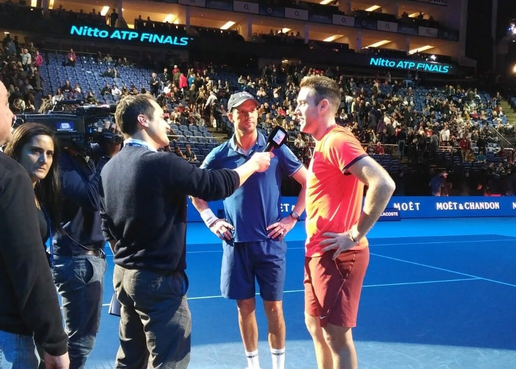 Seb Lauzier interviews Mike Bryan and Jack Sock at the O2
